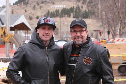Bill Davidson and Carey Hart